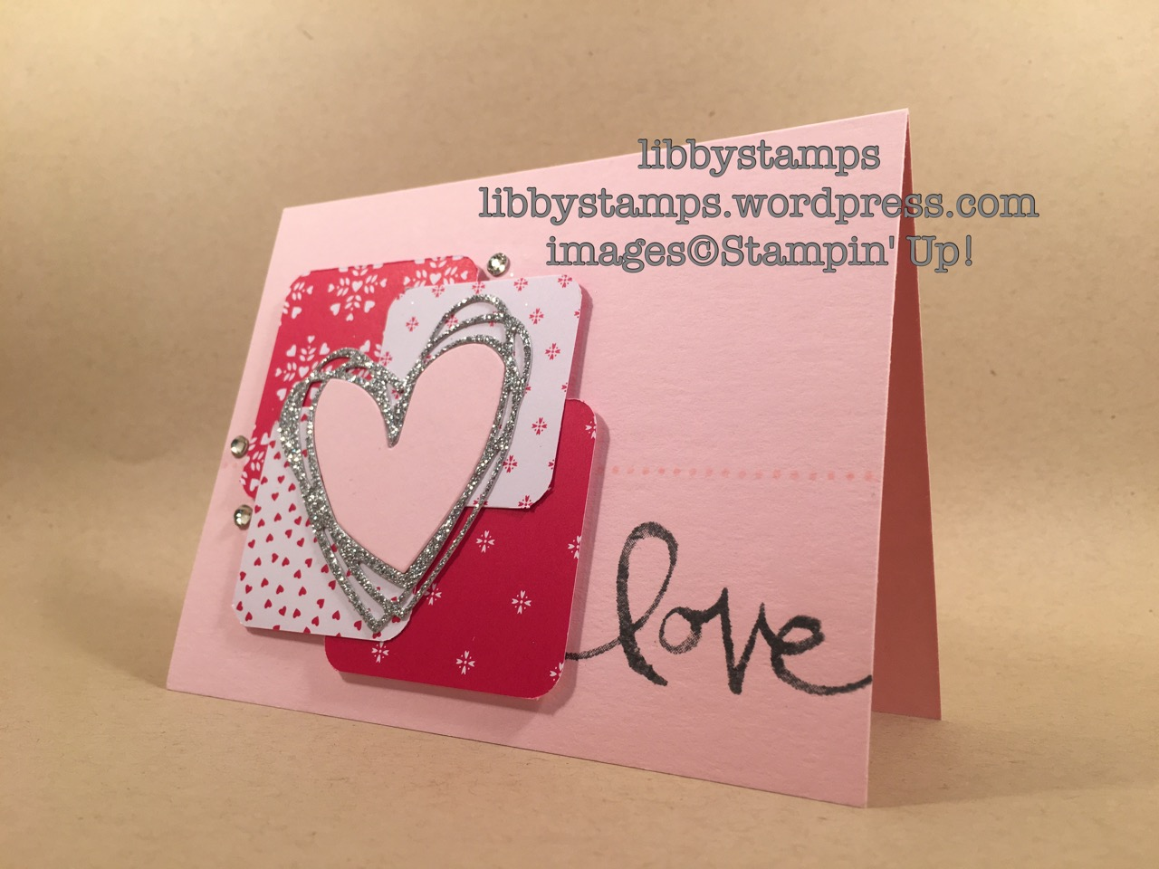 libbystamps, stampin up, Sunburst Sayings, Watercolor Words, Sunshine Wishes Thinlits, Sending Love DSP Stack, Occasions 2017, Valentine's Day