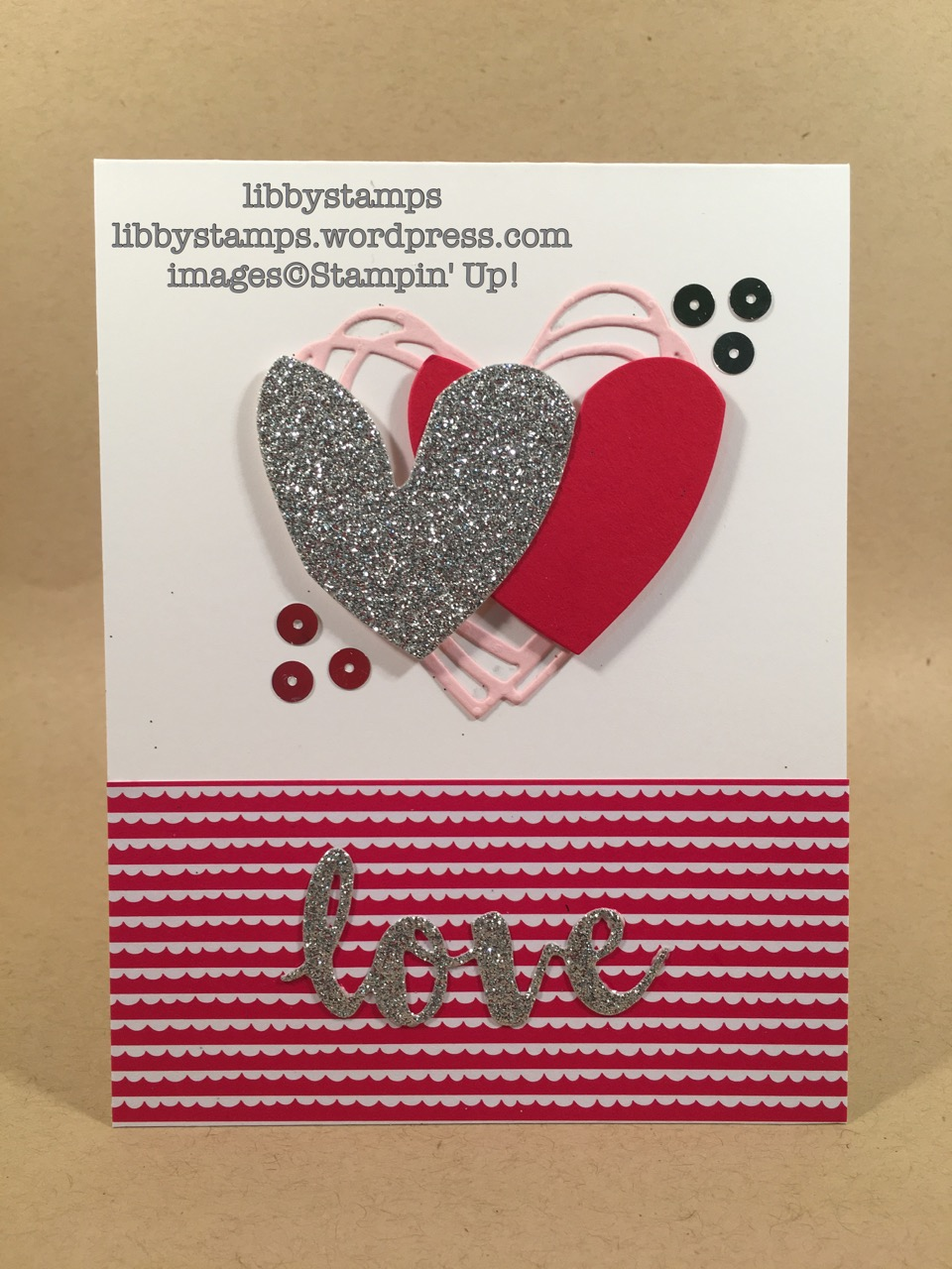 libbystamps, stampin up, Sunshine Wishes Thinlits, Sending Love DSP Stack
