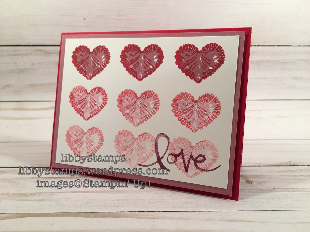 libbystamps, stampin up, Tie Dyed, Watercolor Words, Card Buffet, Valentine's, Love