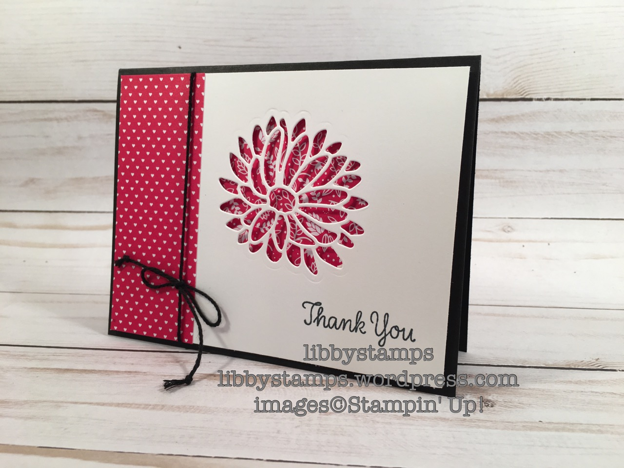 libbystamps, stampin up, Stylish Stems Framelits, thank you, Thankful Thoughts, Sending Love DSP, Card Buffet