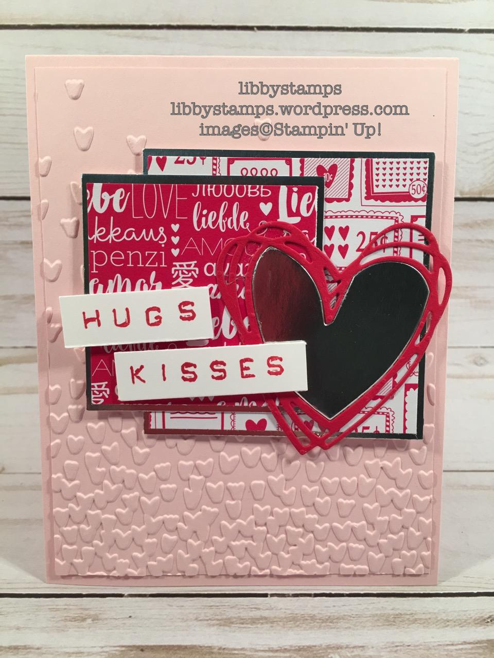 libbystamps, stampin up, Labeler Alphabet, Sunshine Wishes Thinlits, Sending Love DSP, TSOT#307, Falling Petals EF