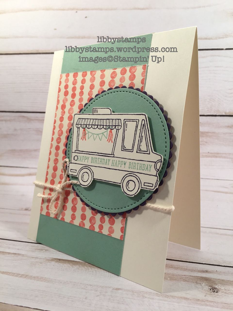 libbystamps, stampin up, Tasty Truck, Sprinkles of Life, By The Shore, Layering Circles Framelits, WWC#105, Sale-a-Bration