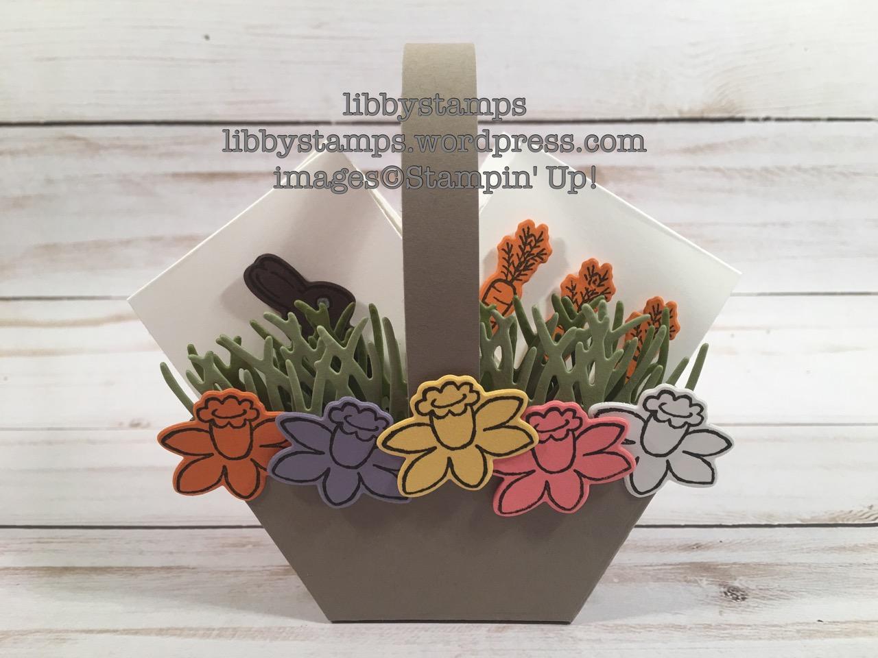 libbystamps, stampin up, occasions 2017, Basket Bunch, Basket Builder Framelits, Window Box Thinlits, Easter, basket, Wacky Watercooler Blog Hop