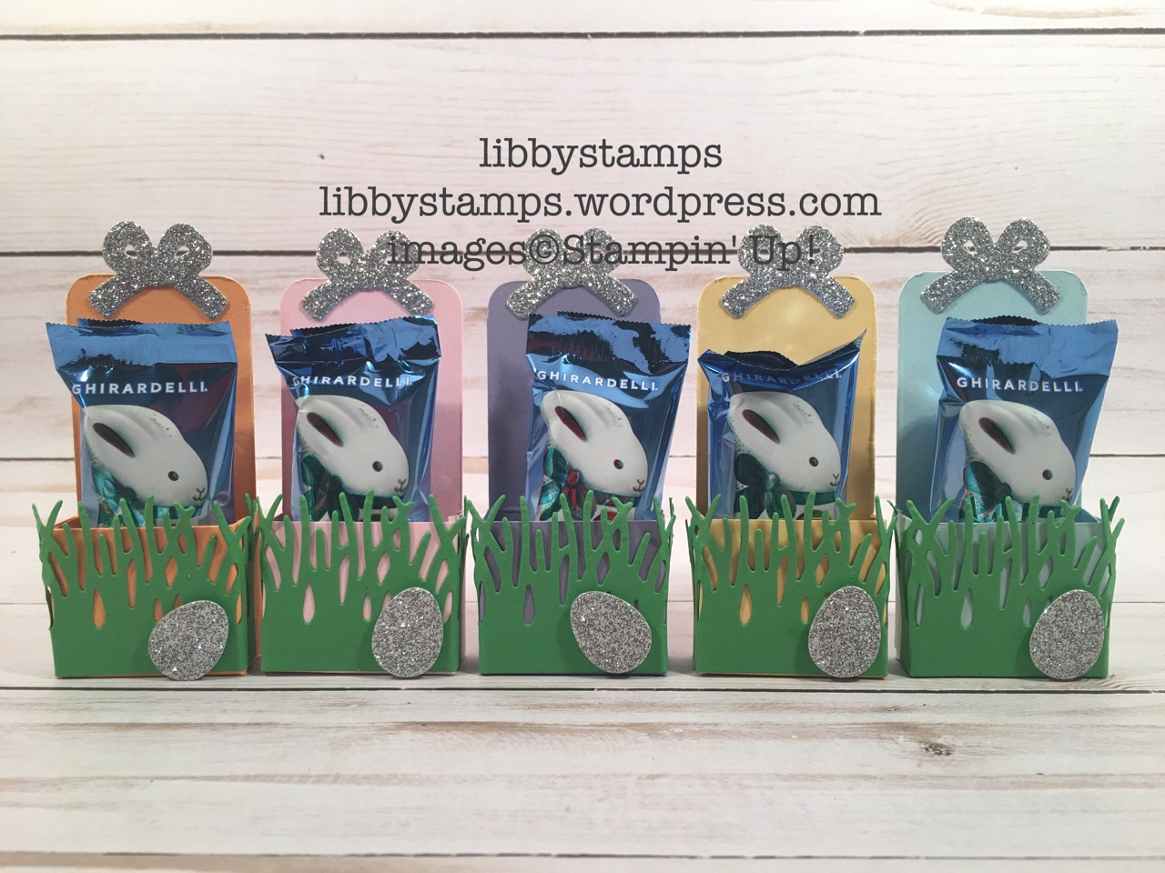 libbystamps, stampin up, Basket Builder Framelits Easter treats, Ghirardelli, CCMC Blog Hop