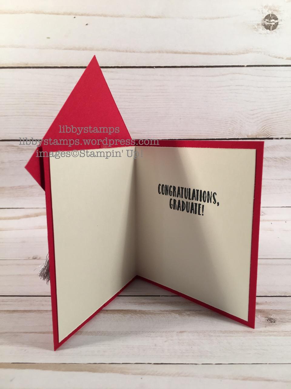 libbystamps, stampin up, graduation card