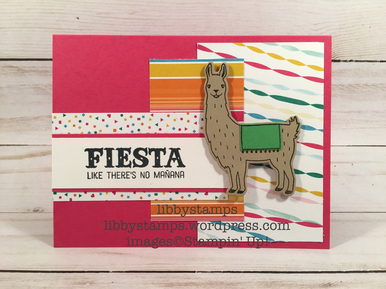 libbystamps, stampin up, Birthday Fiesta, Birthday Fiesta Bundle, Fiesta Time Framelits, Festive Birthday DSP, Cinco de Mayo