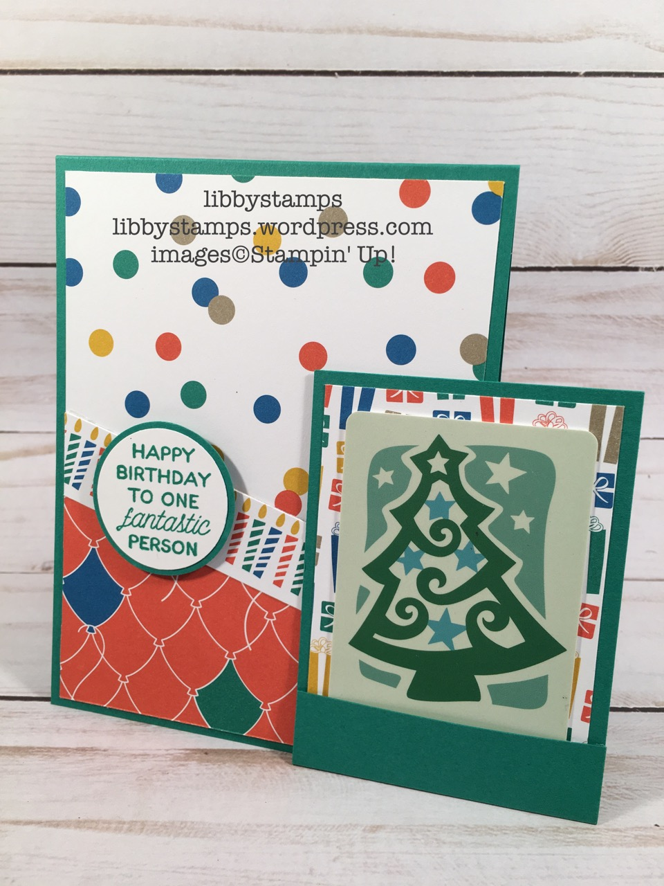 libbystamps, stampin up, Designer Tin of Cards, Party Animal DSP