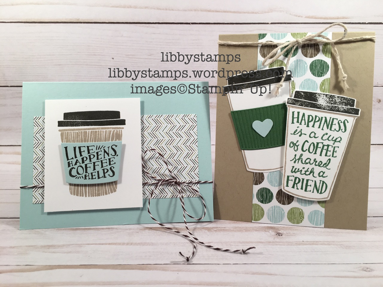 libbystamps, stampin up, Coffee Cafe, Coffee Cafe Bundle, Coffee Cups Framelits, Coffee Break  DSP, 2017-2018 Catalog
