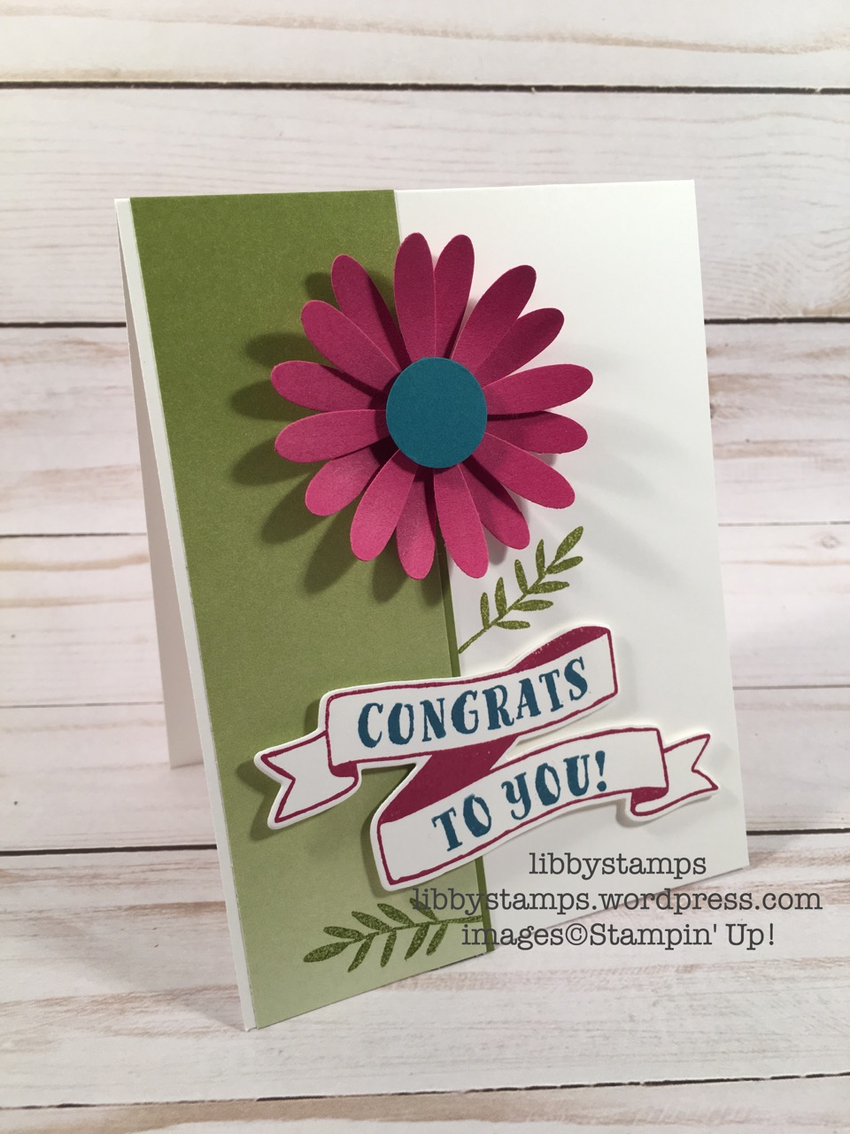 libbystamps, stampin up, 2017-2018 Catalog, Banners For You, Bunch of Banners Framelits, Color Theory DSP, Daisy Punch, 1/2 CirclePunch, CCMC