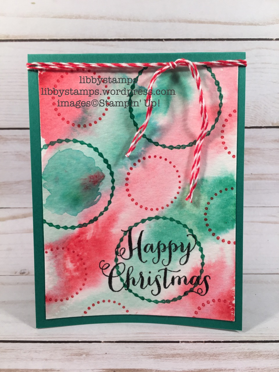 libbystamps, stampin up, Eastern Beauty, Oh What Fun, watercolor card, Christmas Card, WWC