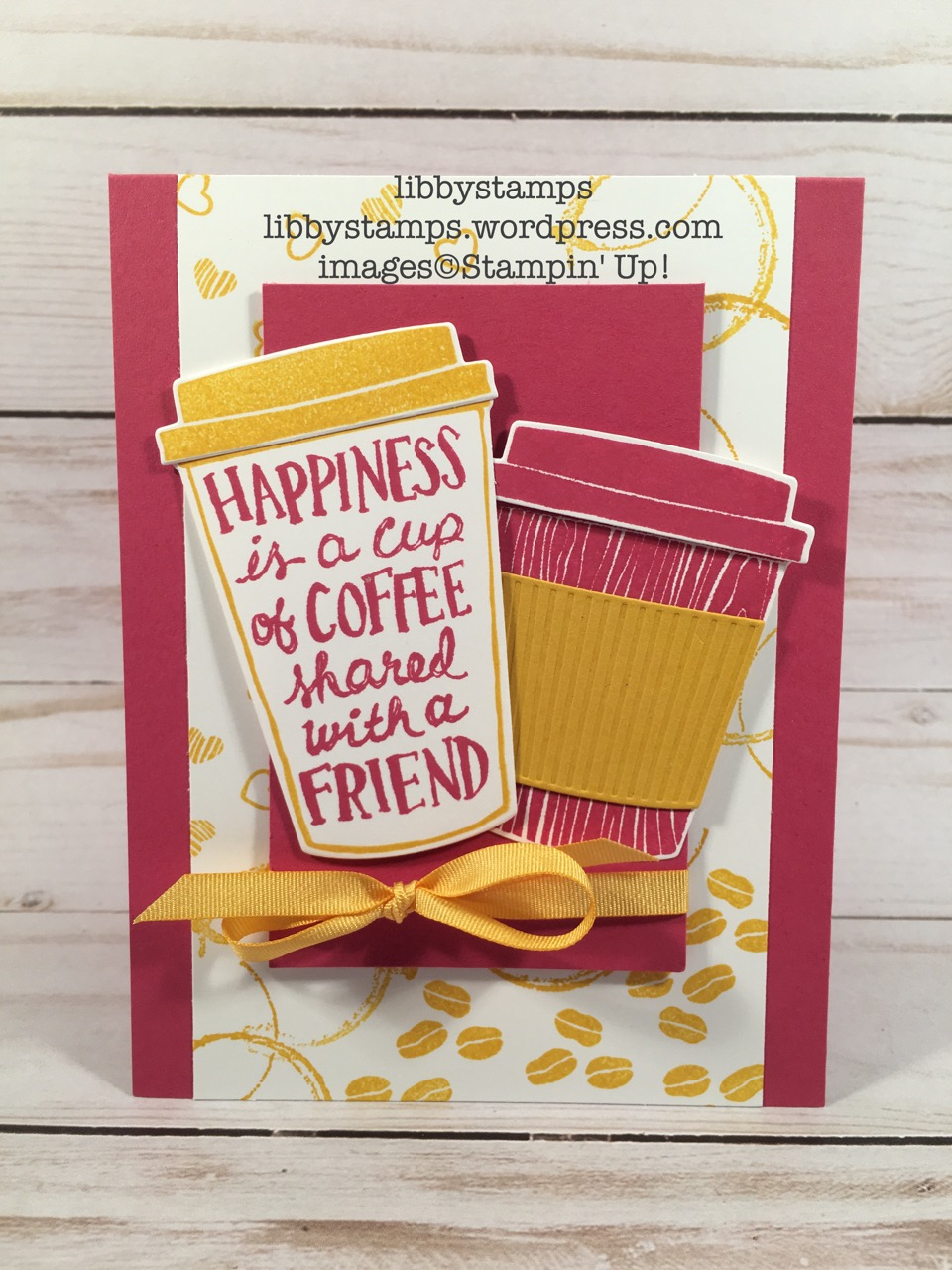 libbystamps, stampin up, Coffee Cafe Bundle, Coffee Cafe, Coffee Cups Framelits, Timeless Textures