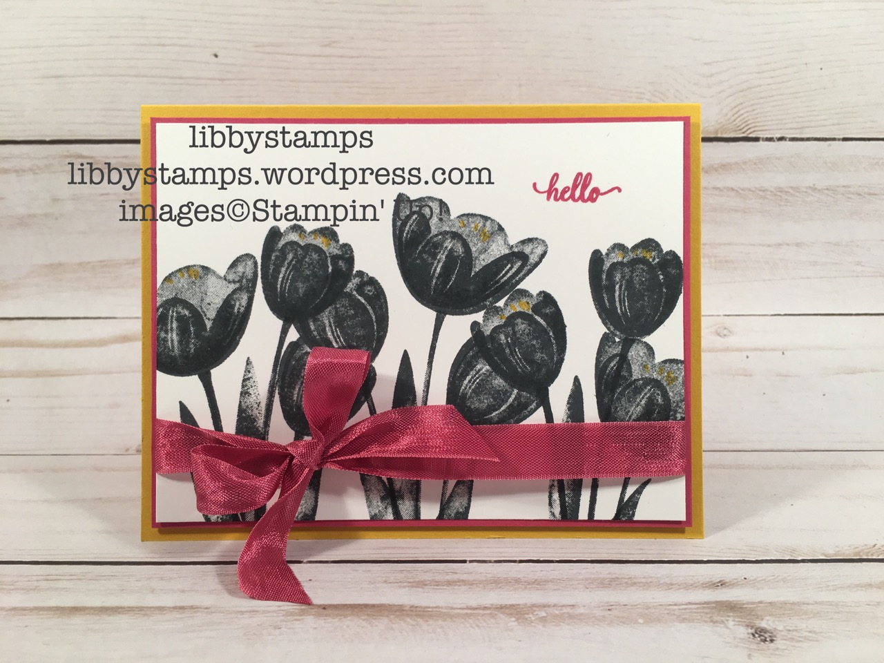 libbystamps, stampin up, Tranquil Tulips, Eastern Beauty