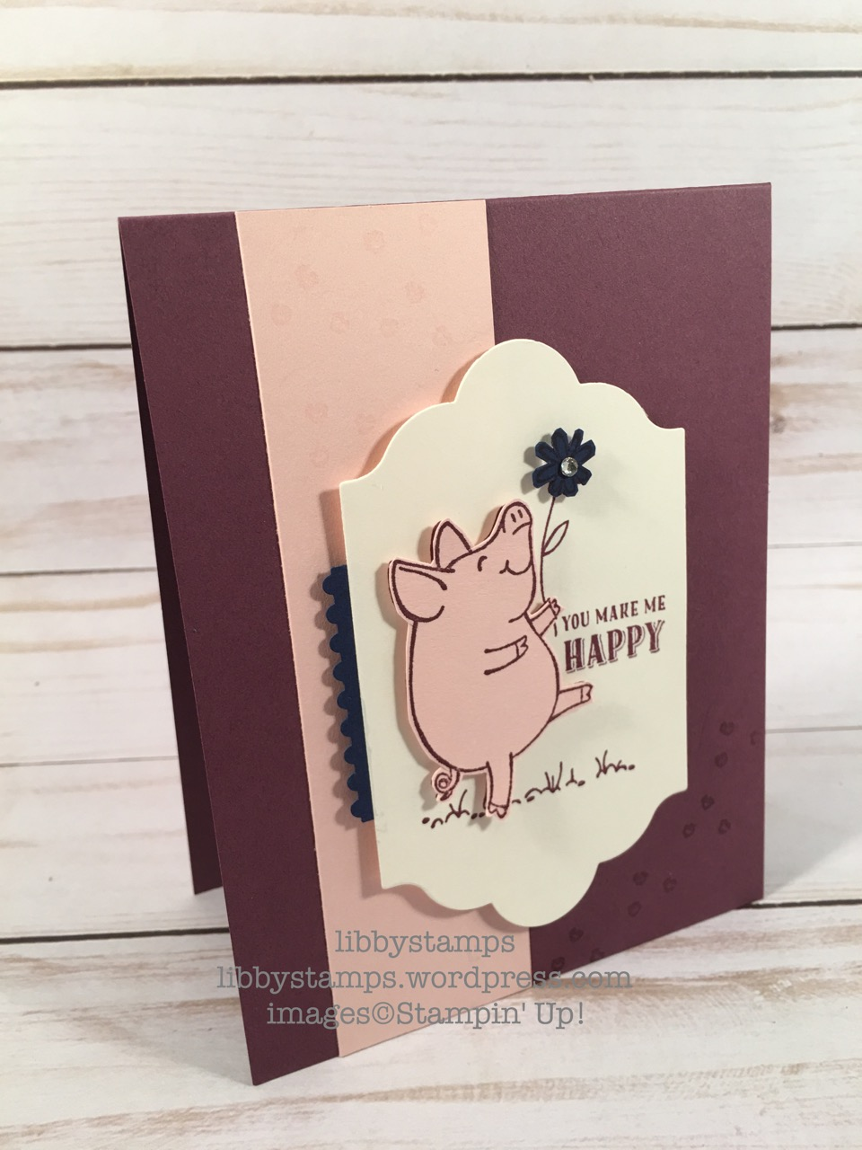 libbystamps, stampin up, This Little Piggy, Lots of Labels Framelits, CCMC
