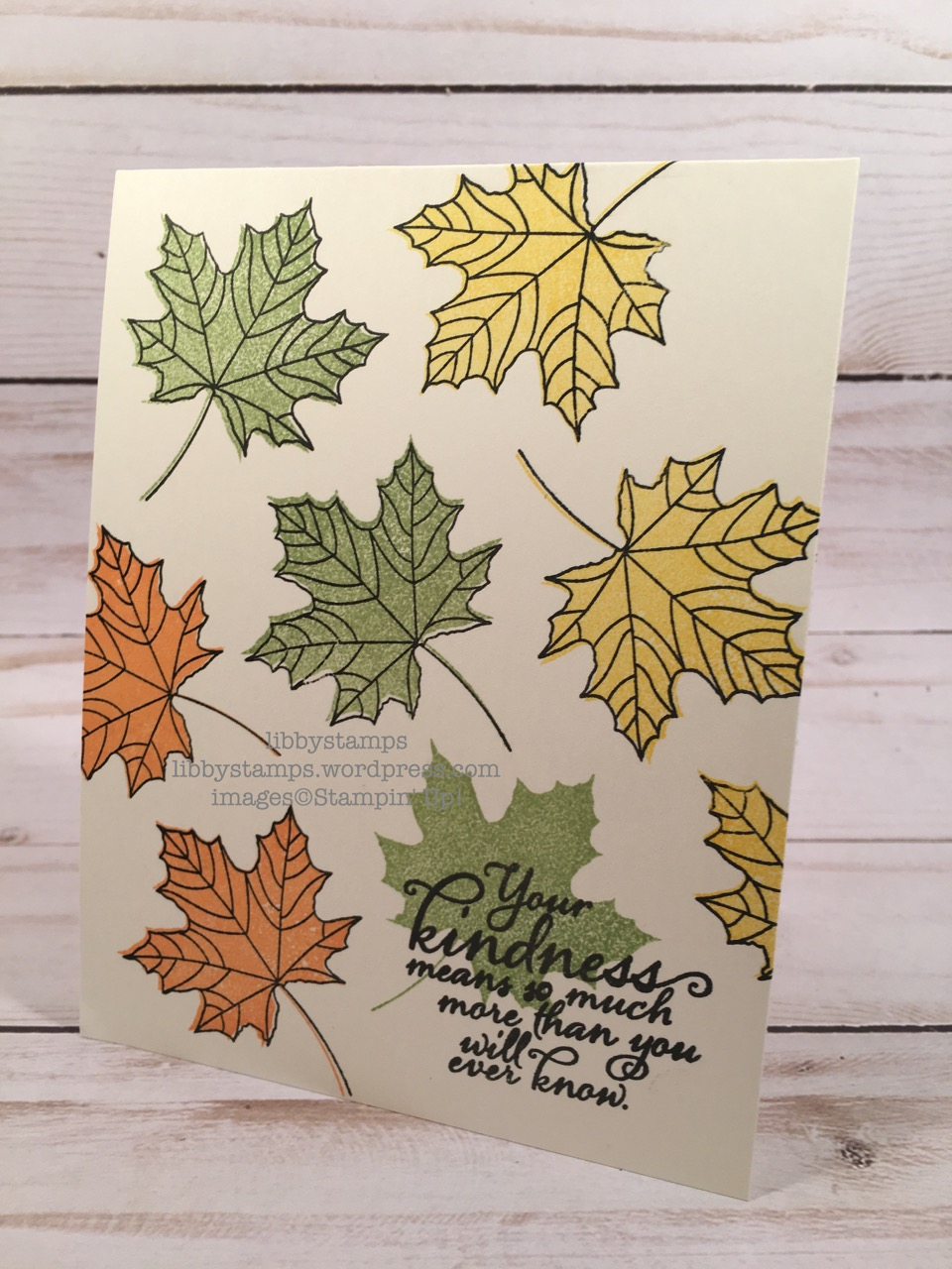 libbystamps, stampin up, Colorful Seasons,Painted Harvest, CCMC, one layer card