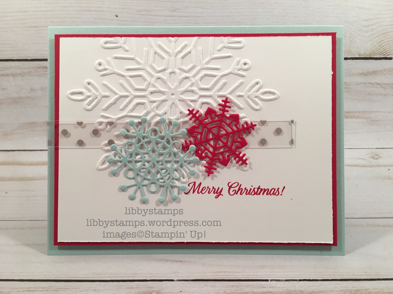 libbystamps, stampin up, Merry Patterns, Seasonal LayersThinlits, Fabulous Foil Designer Acetate, CCMC