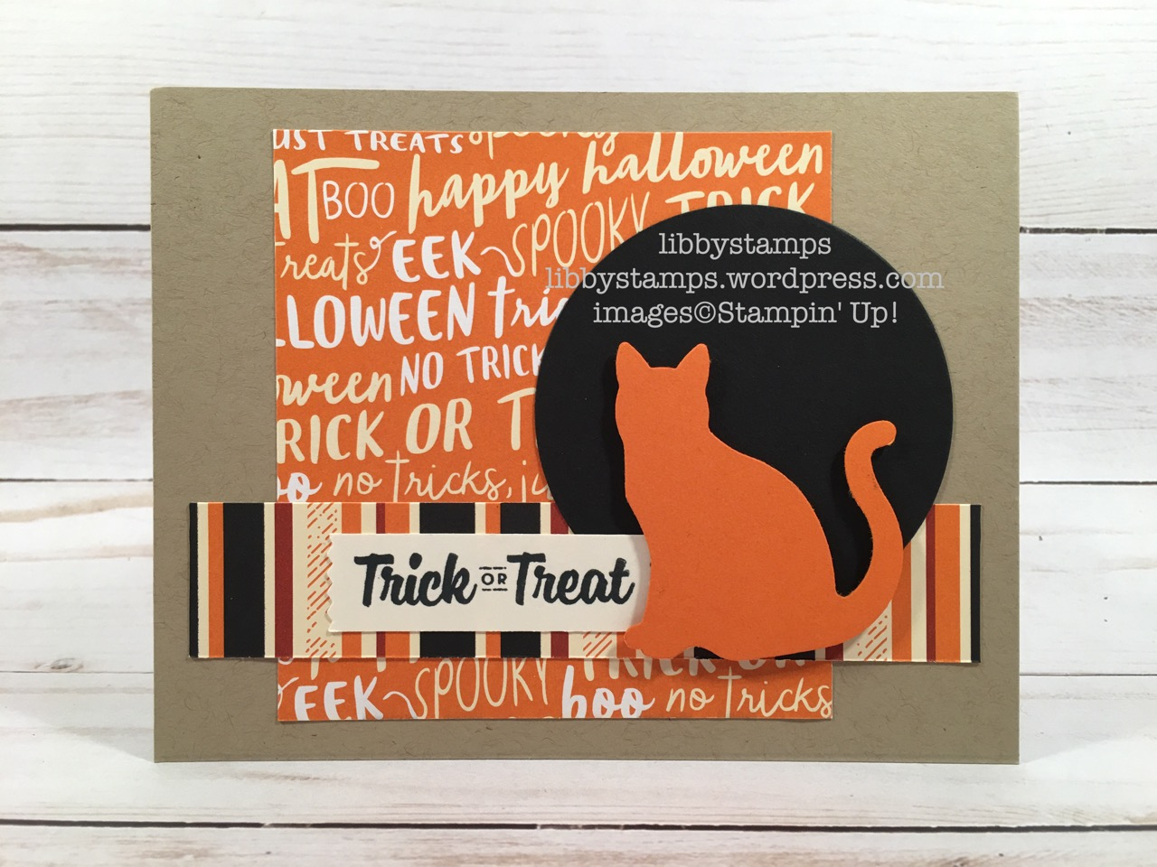 libbystamps, stampin up, Spooky Cat, Spooky Cat Bundle, Layering Circles Framelits, Spooky Night DSP, Washi Label Punch, Cat Punch, TSOT