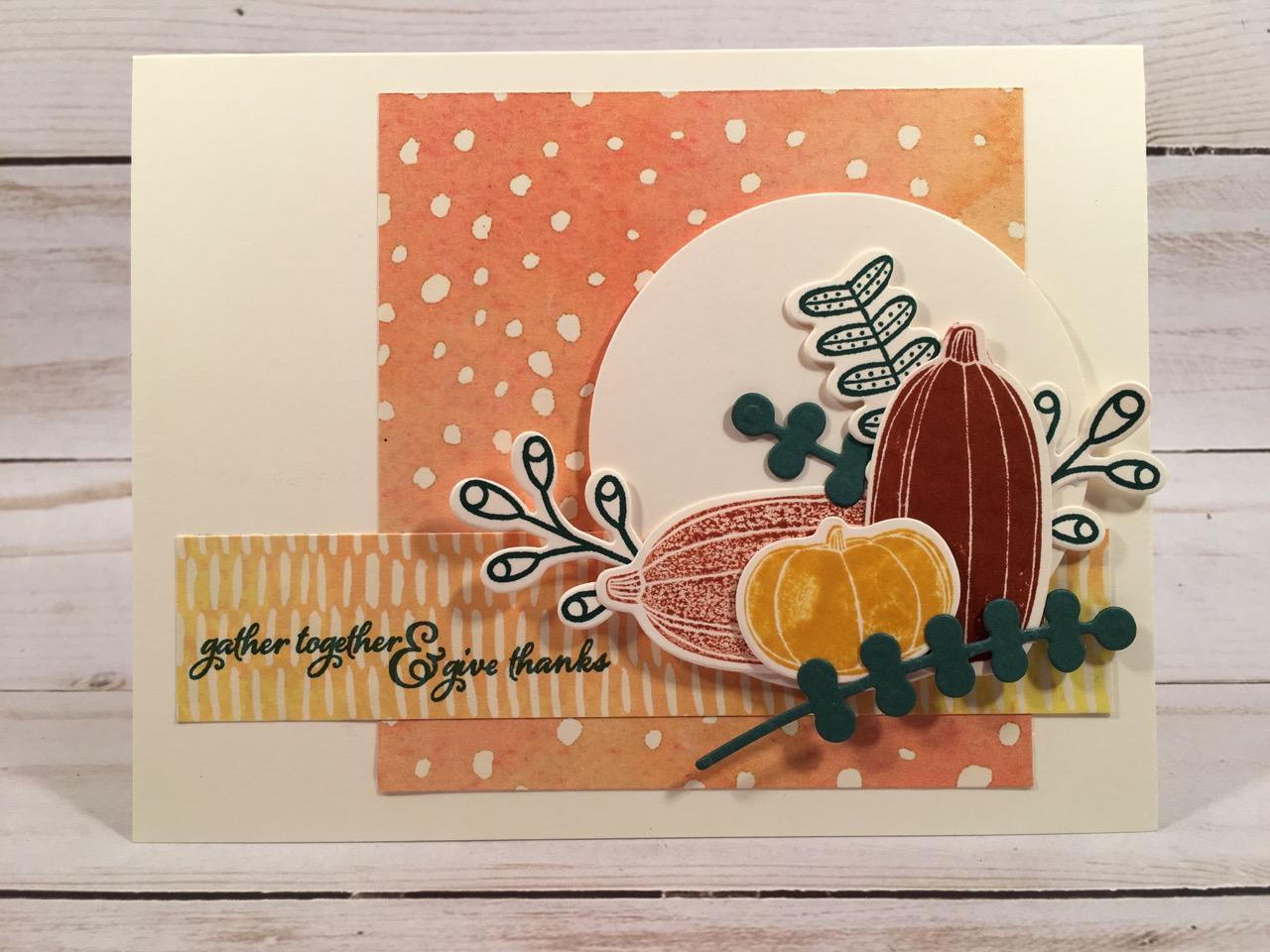 libbystamps, stampin up, Pick a Pumpkin, Painted Harvest, Pick a Pumpkin Bundle, Painted Autumn DSP, Patterned Pumpkins Thinlits, Layering Circles Framelits, CCMC