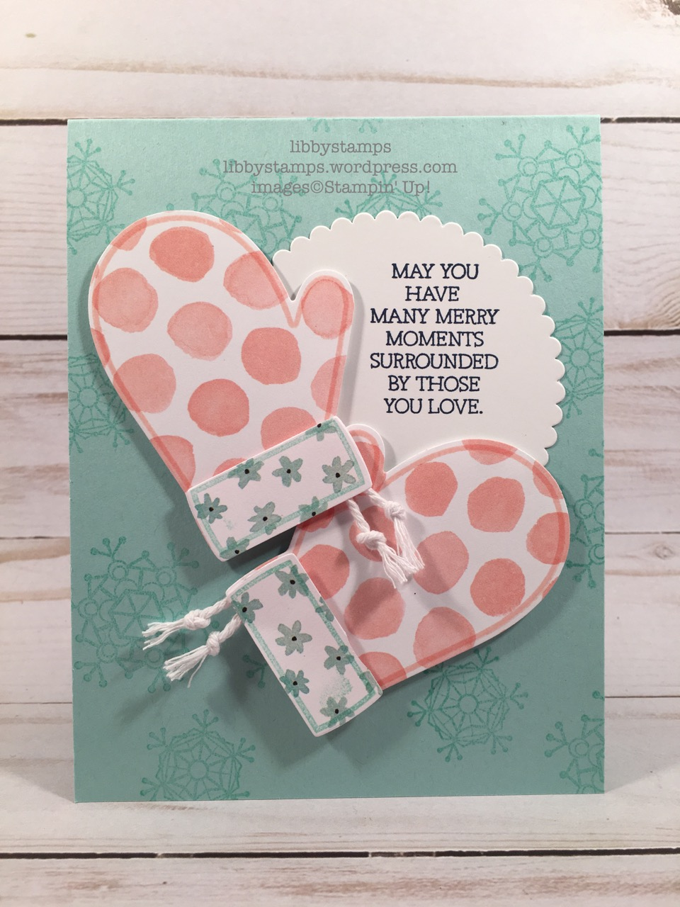 libbystamps, stampin up, SSmitten Mittens, Colorful Seasons, Smitten Mittens Bundle, Many Mittens, Whole Lot of LovelyDSP, Layering Circles Framelits, CCMC
