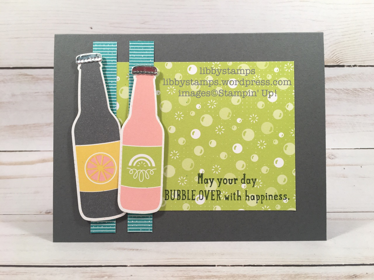 libbystamps, stampin up, Bubble Over, Bottles & Bubbles Framelits, Bubble Over Bundle, Bubbles & Fizz DSP, CCMC