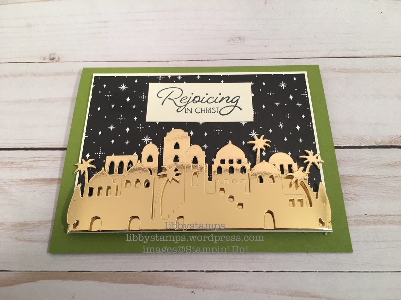libbystamps, stampin up, Night in Bethlehem, Bethlehem Edgelits, Night in Bethlehem Bundle, Merry Little Christmas DSP, CCMC