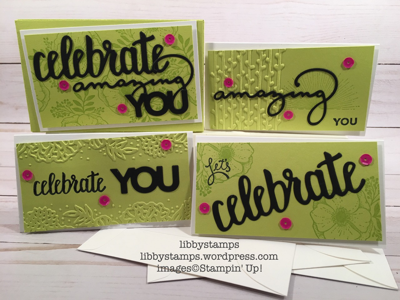 libbystamps, stampin up, CCMC, Amazing You, Celebrate You Thinlits, Lots to Love Box Framelits, Petal Pair EF, Tutti-frutti Adhesive Backed Sequins, Whisper White Narrow Note Cards & Envelopes,