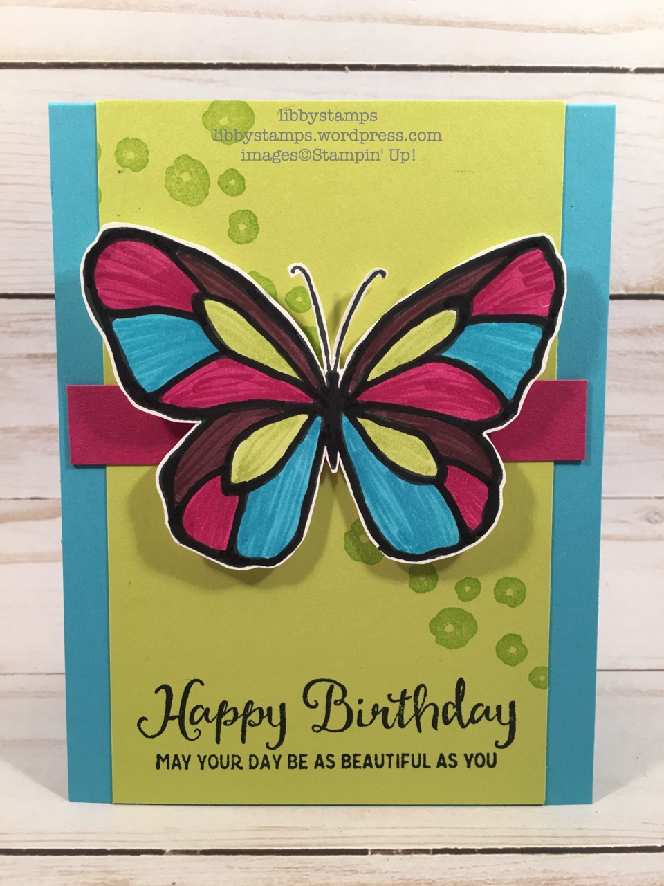 libbystamps, stampin up, Beautiful Day, CCMC, 2018 Occasion, butterfly, birthday