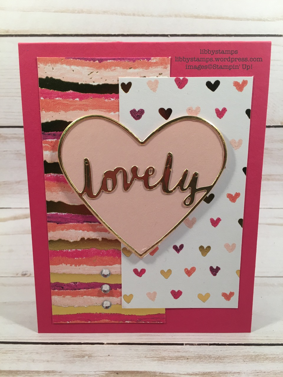 libbystamps, stampin up, Lovely Words, occasions mini