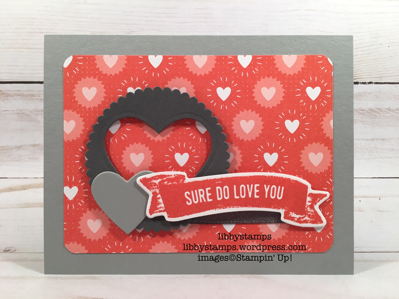 libbystamps, stampin up, TSOT, Sure Do Love You, Lots to Love Box Framelits, Sure Do Love You Bundle, Layering Circles Framelits, Sweet & Sassy Framelits, Bubbles & Fizz DSP, Sale-a-Bration 2018