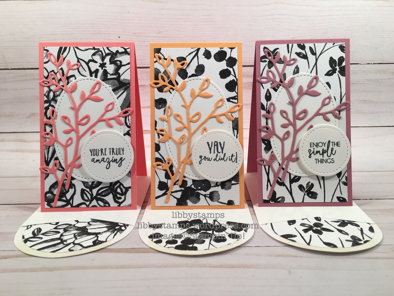 libbystamps, stampin up, Yay You, Petals & More Thinlits, Stitched Shapes Framelits, 2 1/2 Circle, Petal Passion DSP, BFBH, blog hop