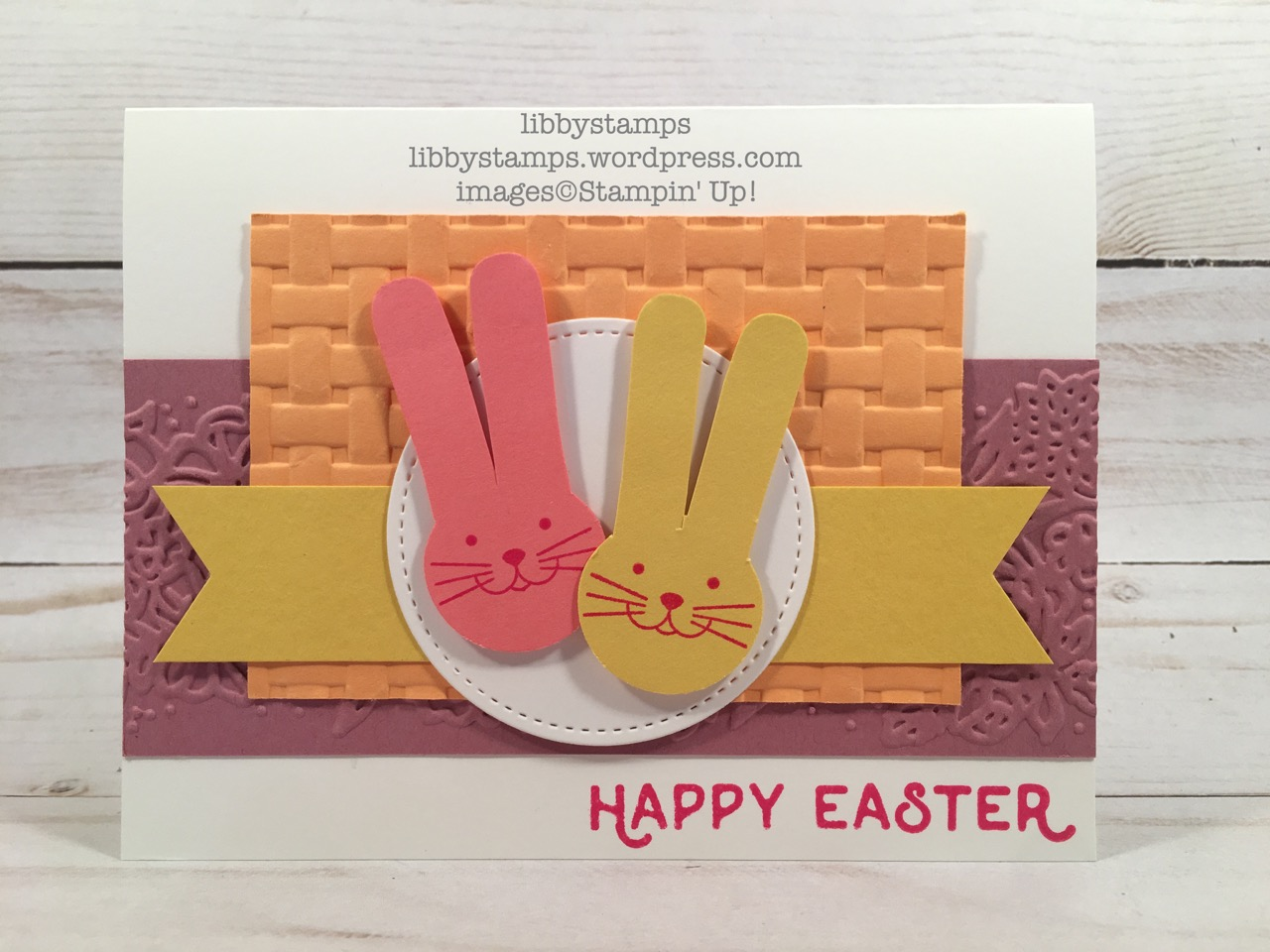 libbystamps, stampin up, Hello Easter, Foxy Friends, Stitched Shapes Framelits, Cookie Cutter BuilderPunch, Petal Pair EF, Basket Weave EF, TSOT, Easter