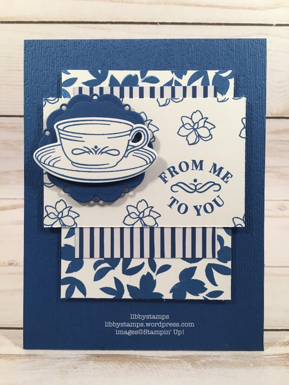 libbystamps, stampin up, Time for Tea, Spot of Tea Framelits, Time for Tea Bundle, In-Color 2018-2020 6x6,Subtle Dynamic EF, CCMC