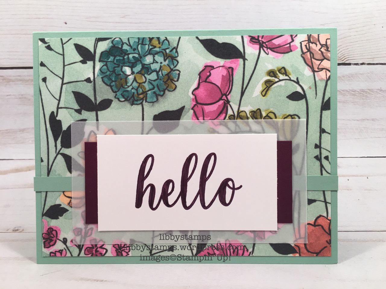 libbystamps, stampin up, Calligraphy Essentials, Share What You Love DSP, Blackberry Bliss Stampin' Write Marker, CCMC