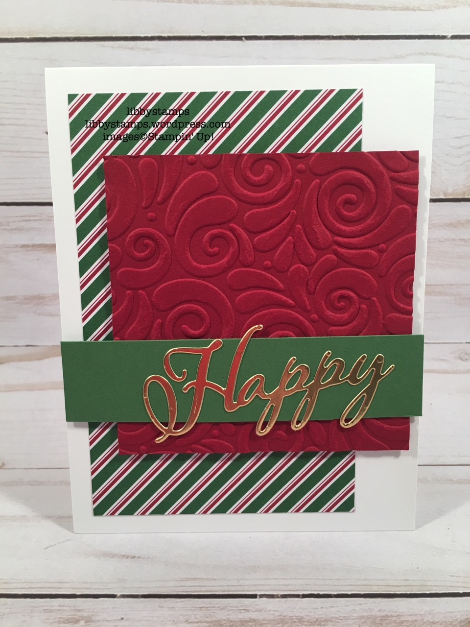 libbystamps, stampin up, Merry Christmas Thinlits, Merry Christmas to All, CCMC