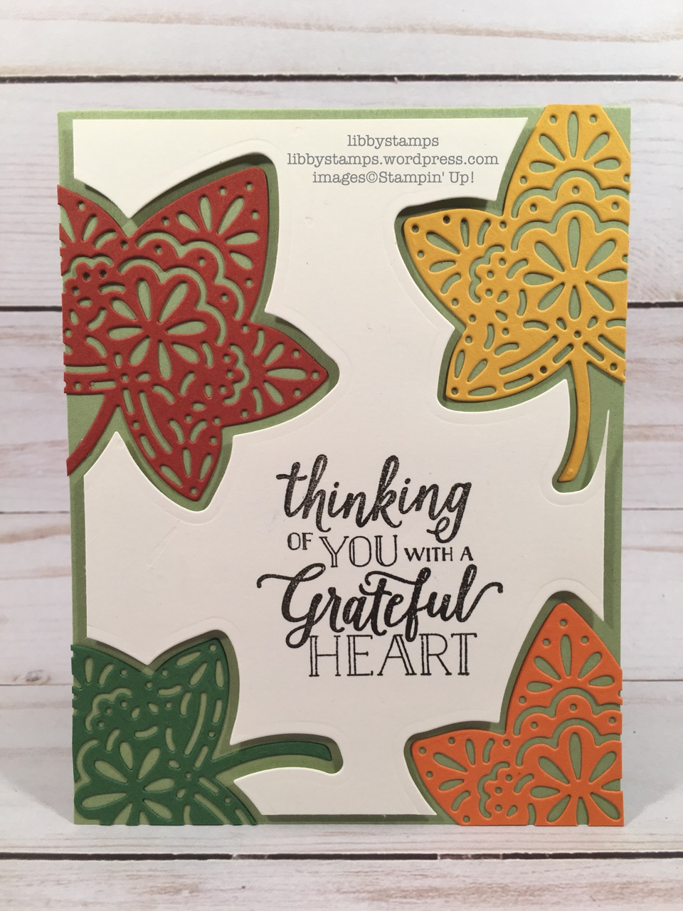 libbystamps, Stampin' Up!, Falling for Leaves, Detailed Leaves, Falling for Leaves Bundle, We Create