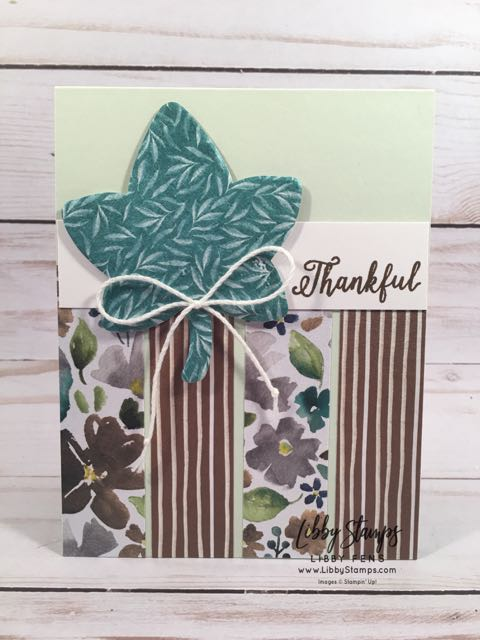 libbystamps, Stampin' Up!, Falling for Leaves, Detailed Leaves, Frosted Floral DSP, TSOT