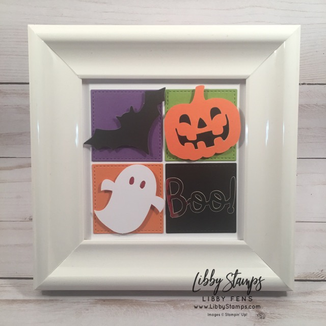 libbystamps, Stampin' Up!, Layering Squares Framelits, Frights & Delights Paper Pumpkin kit, BFBH, home decor