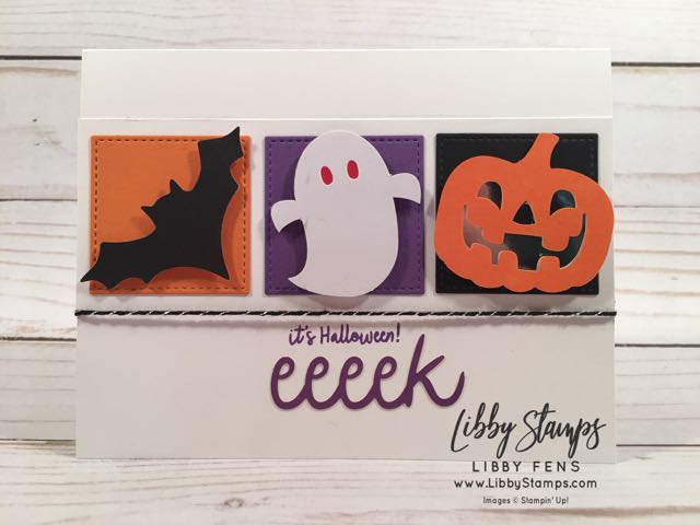 libbystamps, Stampin' Up! Frights & Delights, Frights & Delights Paper Pumpkin, Layering Squares, FabFri148