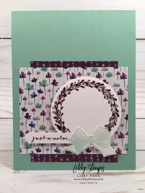 libbystamps, Stampin' Up!, Wishing You Well, Layering Circles Framelits, Frosted Floral DSP, Classic Label Punch, CCMC