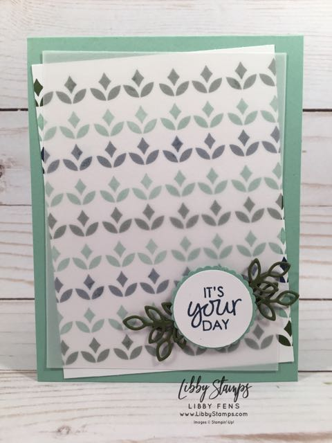 libbystamps, Stampin' Up!, Happiness Surrounds, Snowfall Thinlits, CCMC