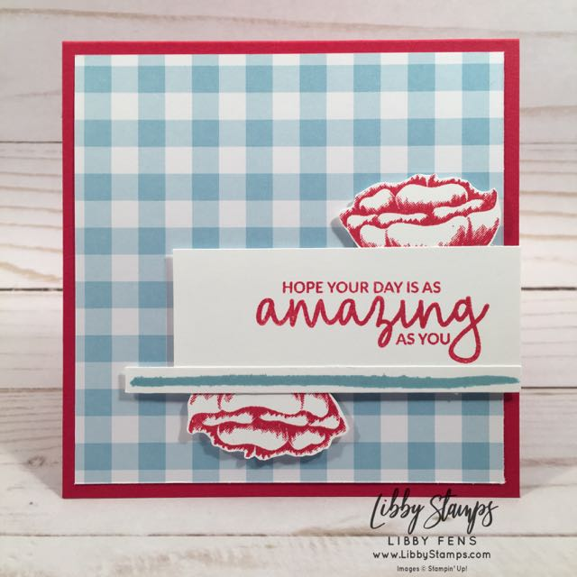 libbystamps, Stampin' Up!, Incredible Like You, OnStage, Gingham Gala, CCMC