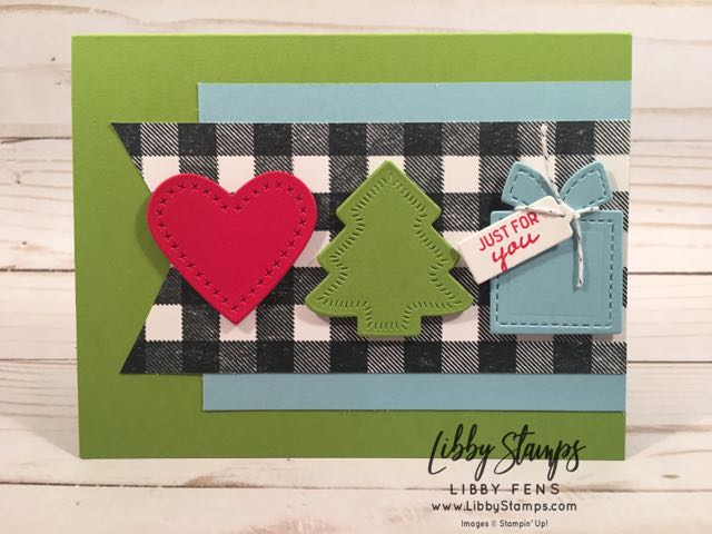 libbystamps, Stampin' Up!, Nothing Sweeter, Buffalo Check, Sweetly Stitched Framelits, Nothing Sweeter Bundle, TSOT