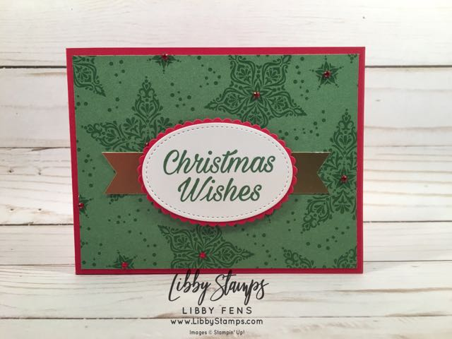 libbystamps, Stampin' Up!, Peaceful Poinsettia, Layering Ovals Framelits, Stitched Shapes Framelits, Dashing Along DSP, Banner Triple Punch, gift card holders