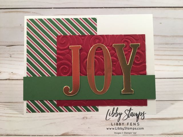 libbystamps, Stampin' Up!, Large Letters Framelits, Dashing Along DSP, Swirls & Curls EF, We Create, Joy