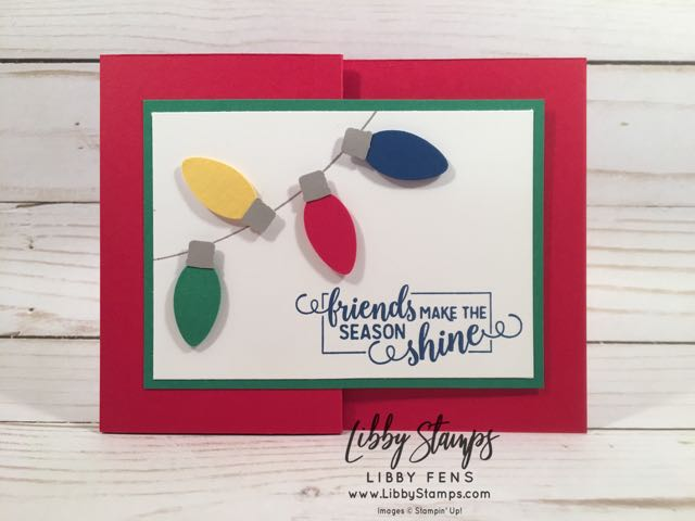 libbystamps, Stampin' Up!, Making Christmas Bright, Making Christmas Bright Bundle, Christmas Bulb Builder Punch, gift card holder