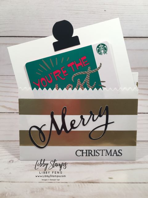 libbystamps, Stampin' Up!, Merry Christmas to All, Merry Christmas Thinlits, Circle Tab, Striped treat Bags, gift card holders