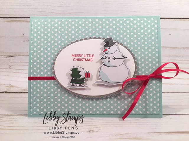 libbystamps, Stampin' Up!, Peaceful Noel, Layering Ovals Framelits, Stitched Shapes Framelits, Santa's Workshop Specialty DSP, Twinkle Twinkle DSP, Galvanized metallic Paper, CCMC