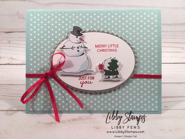 libbystamps, Stampin' Up!, Peaceful Noel, Nothing Sweeter, Layering Ovals Framelits, Stitched Shapes Framelits, Santa's Workshop Specialty DSP, Twinkle Twinkle DSP, Galvanized Metallic Paper
