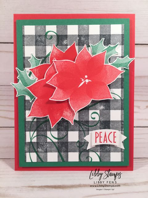 libbystamps, Stampin' Up!, Stylish Christmas, Buffalo Check, Duet Banner Punch, CCMC