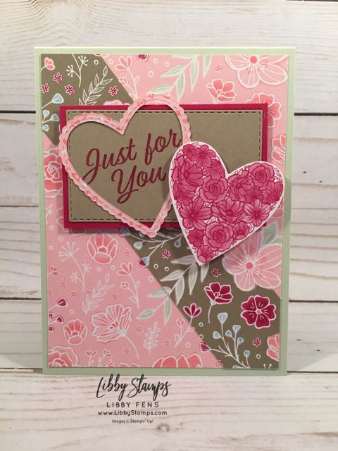 libbystamps, Stampin' Up!, Meant to Be, Be Mine Stitched Framelits, Rectangle Stitched Framelits, Meant to Be Bundle, All My Love DSP, TSOT