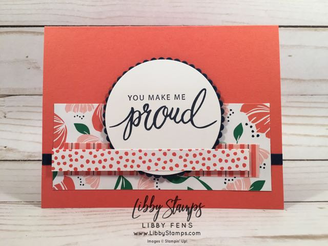 libbystamps, Stampin' Up!, Friendly Expressions, Layering Circles Framelits, Happiness BloomsDSP, CCMC